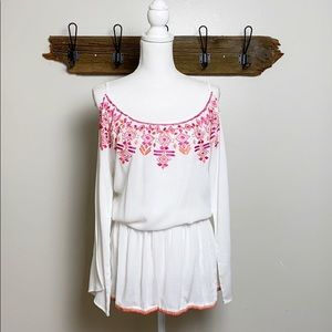 Elizabeth Hurley Beach Coverup Embroidered NWT